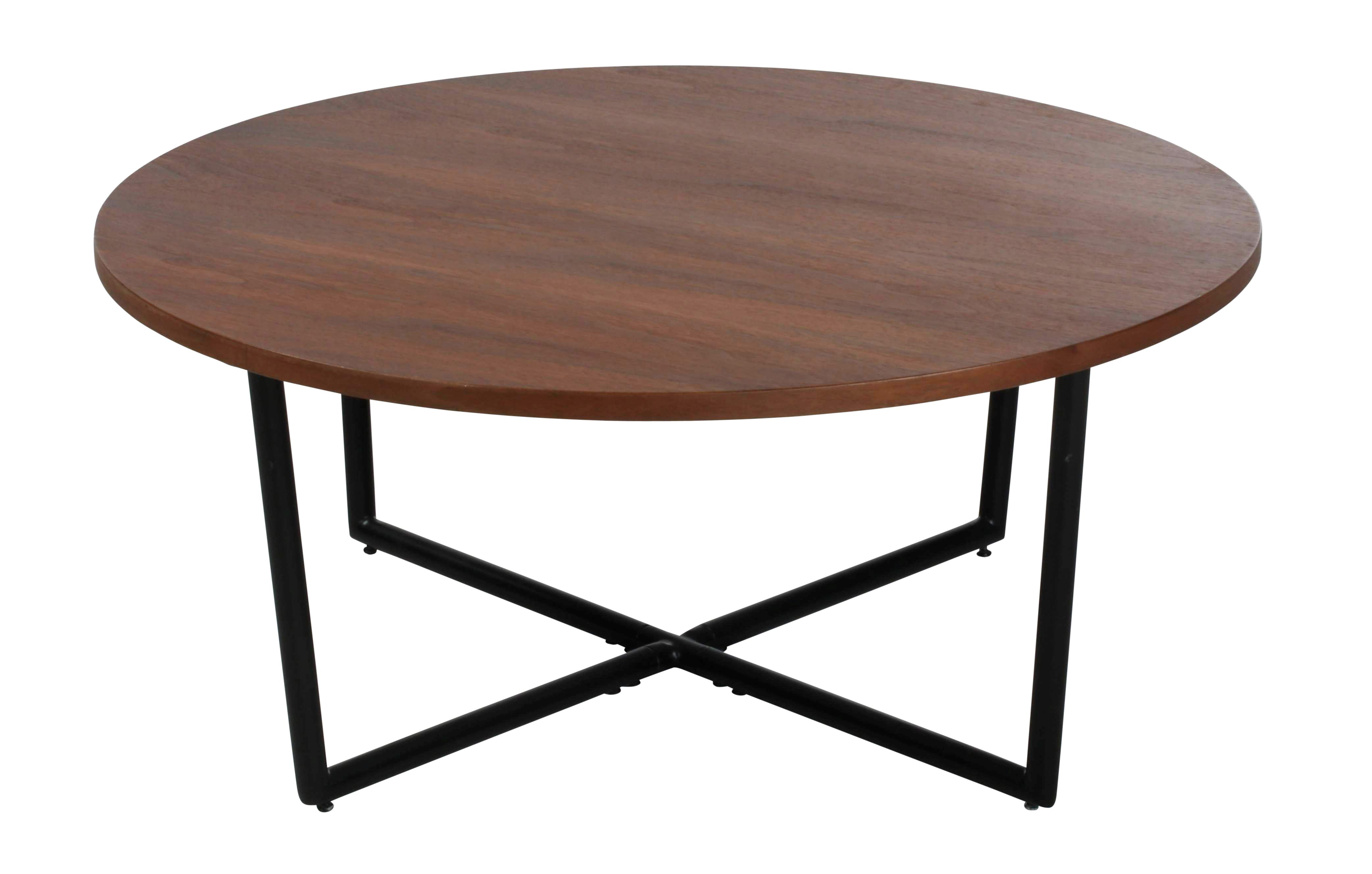 Table Basse Ronde But.Table Basse Ronde O80 Fanny Industrielle Noyer En 2019