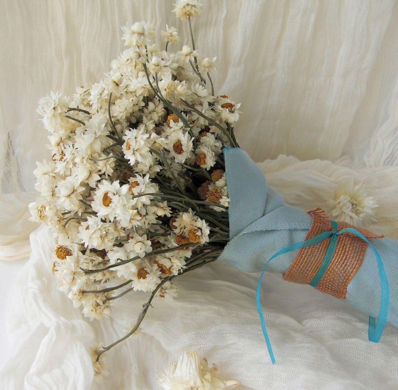 Prim dried flower bridesmaid or bridal wedding bouquet ivory prim dried flower bridesmaid or bridal wedding bouquet ivory white and gold 5000 via etsy izmirmasajfo