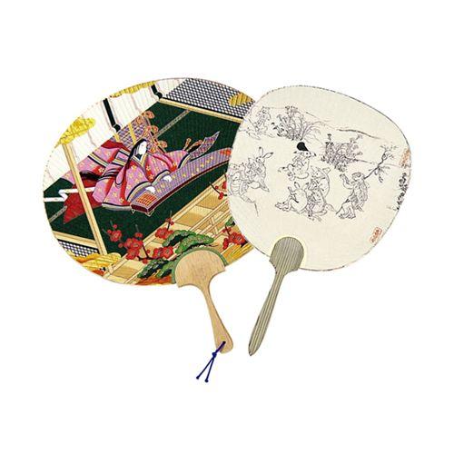 Picture Scroll Uchiwa Fan & Animal Caricatures Uchiwa Fan (Eboushi)