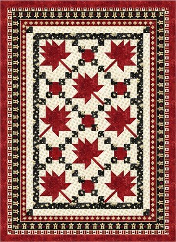 Maple Leaf Parade - Throw Size Quilt Kit | Quilts | Pinterest ... : quilt design programs - Adamdwight.com