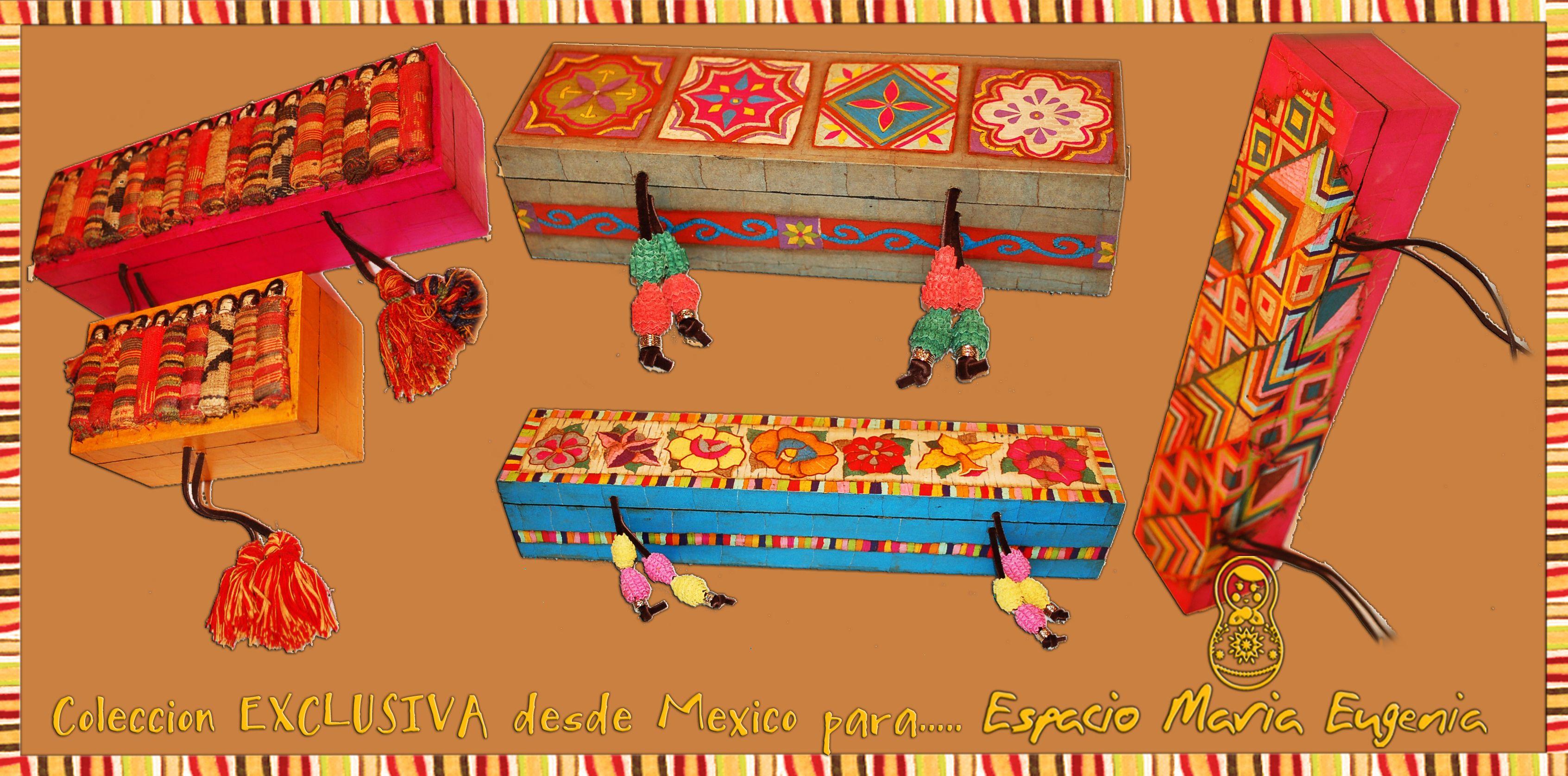 Cajas mexicanas confeccionadas totalmente a mano - Piezas artísticas únicas - Espacio María Eugenia