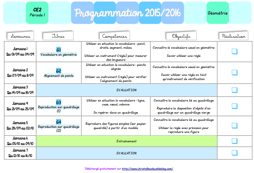 Programmations tous cycles - Christall'Ecole