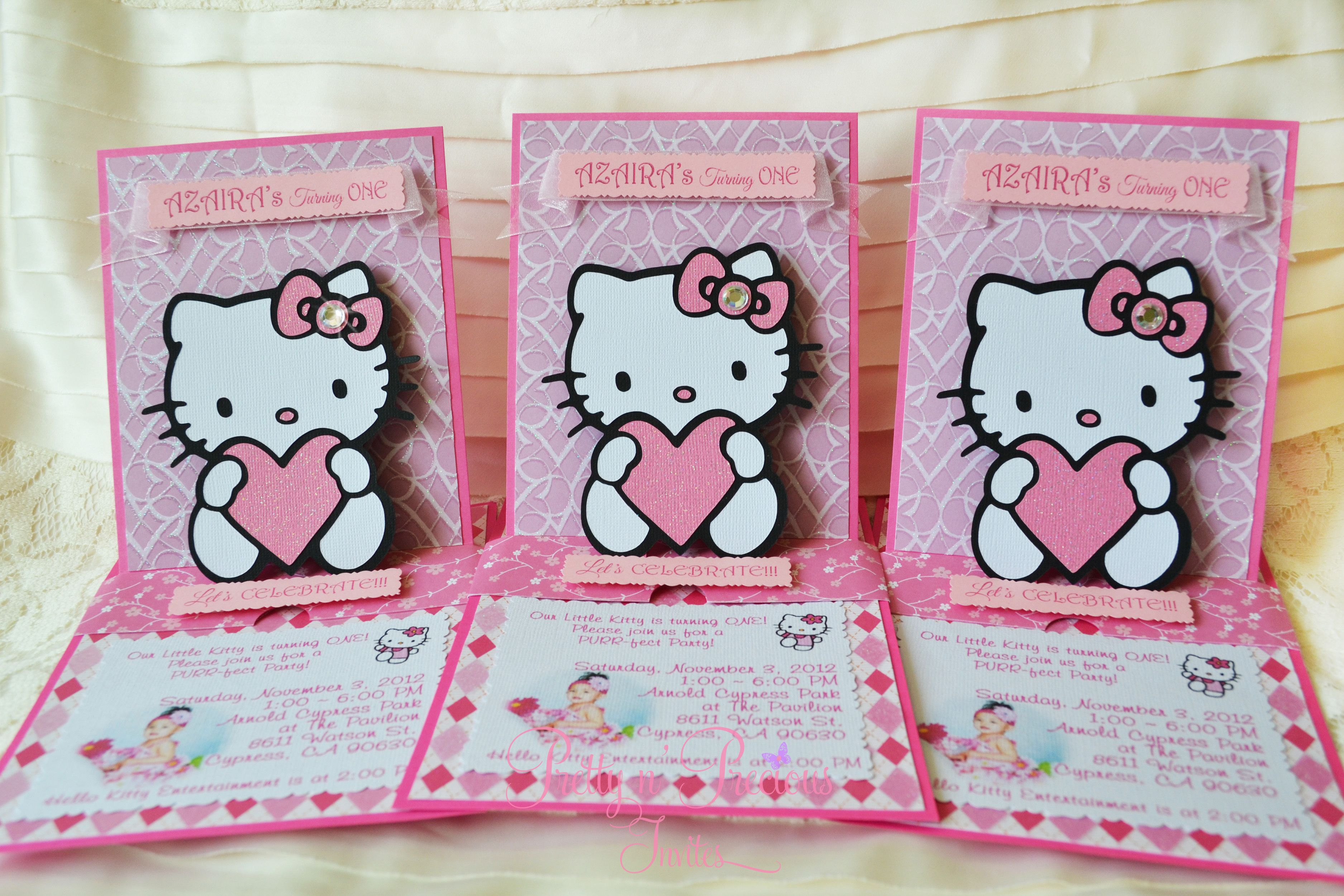 Hello Kitty Invitation Pretty N Precious Invites Pinterest