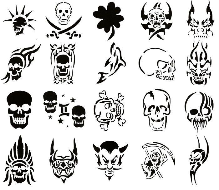 modern tattoo stencils skull