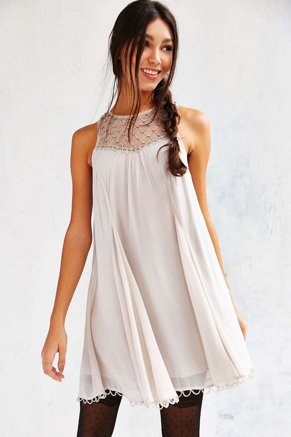 c1f25c1adca Kimchi Blue Glynda Beaded Trapeze Dress | My Style | Urban dresses ...