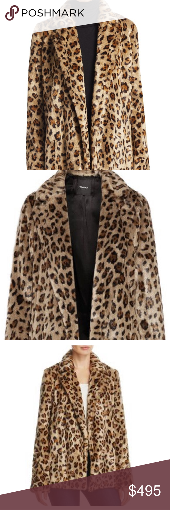 14f2801d42ef Theory Clairene Leopard Fur Coat Theory