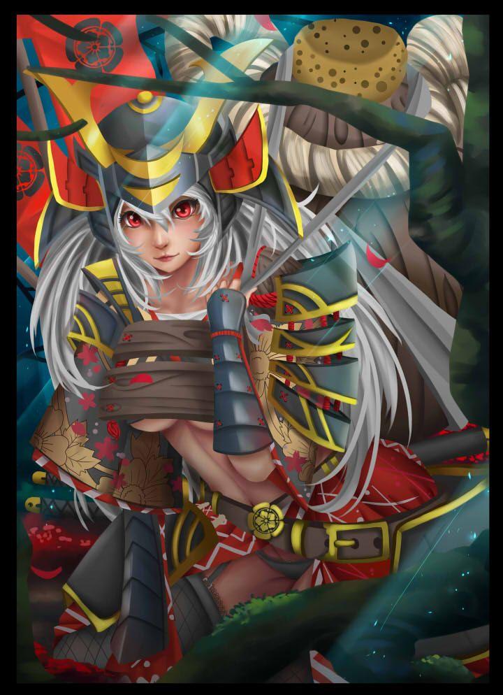 Samurai girl Samurai, Anime, Artwork