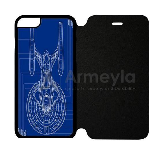 Star Trek Spaceship Blueprint iPhone 6 Plus/6S Plus Flip Case | armeyla.com