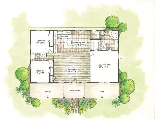 Santa fe house plans designs home plans house plan Small spanish house plans