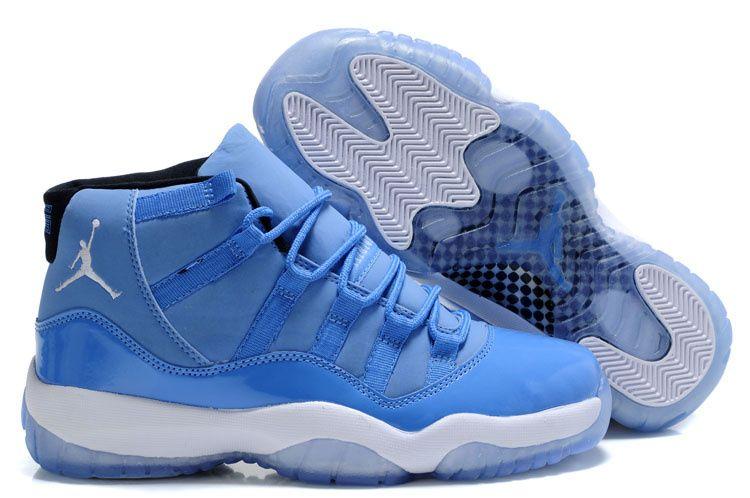 Nike Air Jordan Xi 11 Zapatos Para Hombre Blanco Azul Casa Cielo