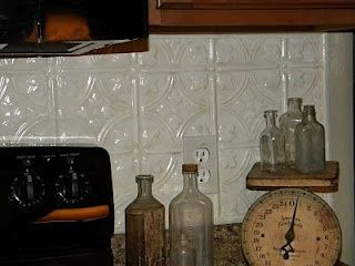 Painting tile backsplash painted tin ceiling tiles backsplash paint decorating tin tile - American tin tiles wallpaper ...