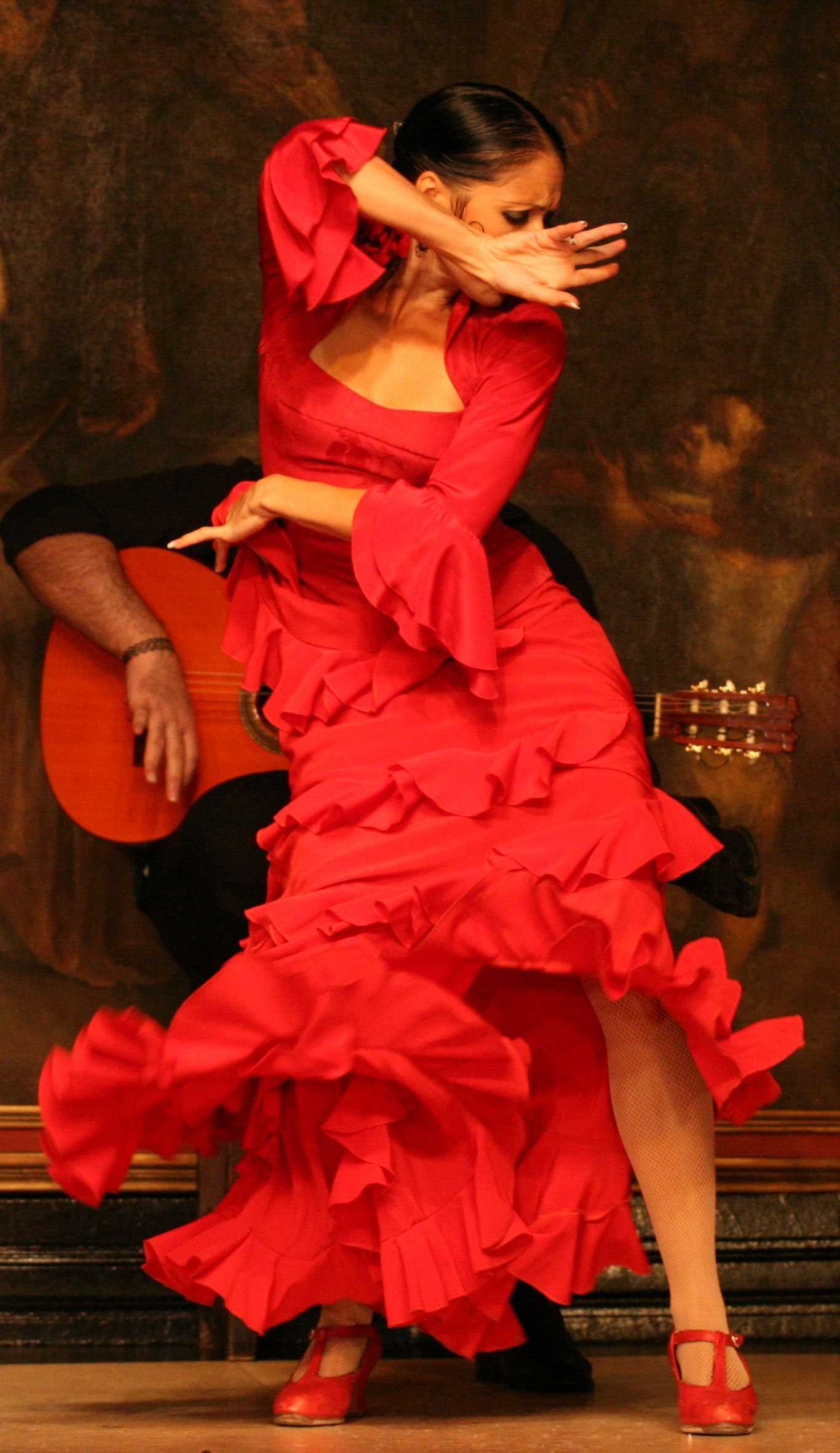 Flamenco Arte Y Ole Ole The Little Red Dress Of Flamenco At Tablao Cordobes Barcelona