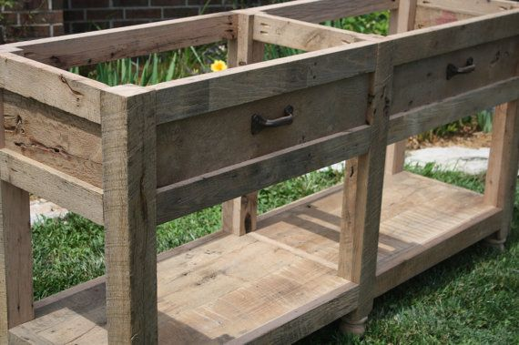 YOUR Custom Rustic Barn Wood Vanity Or Cabinet By Timelessjourney, $525.00