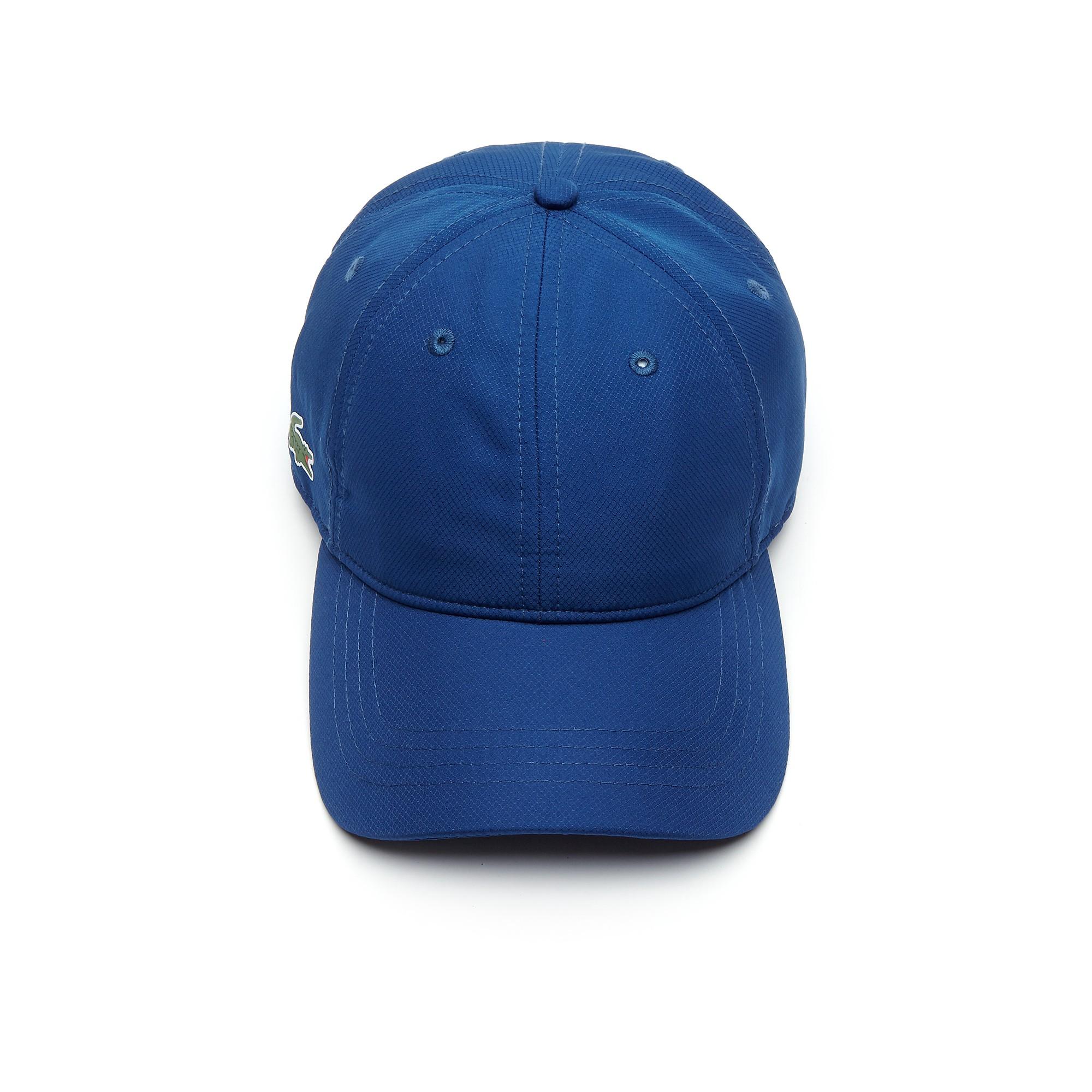 db2c3d56731 Lacoste Men s Sport Cap In Solid Diamond Weave Taffeta - Apricot Green
