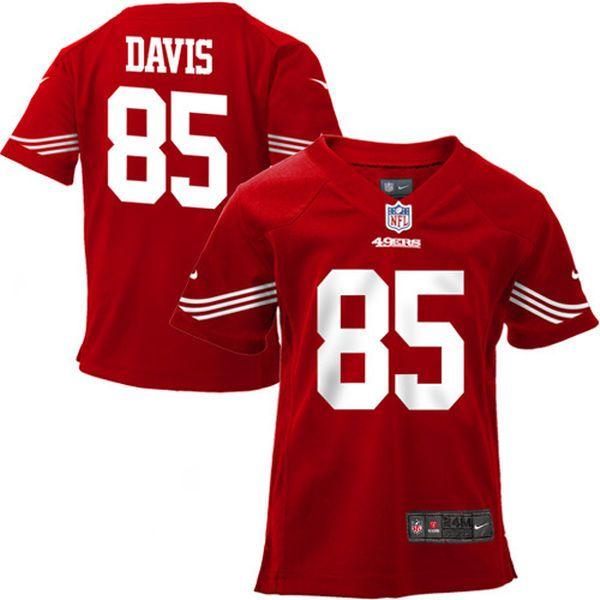... NFL Vernon Davis San Francisco 49ers Nike Infant Team Color Game Jersey  - Scarlet ... ae54cf623