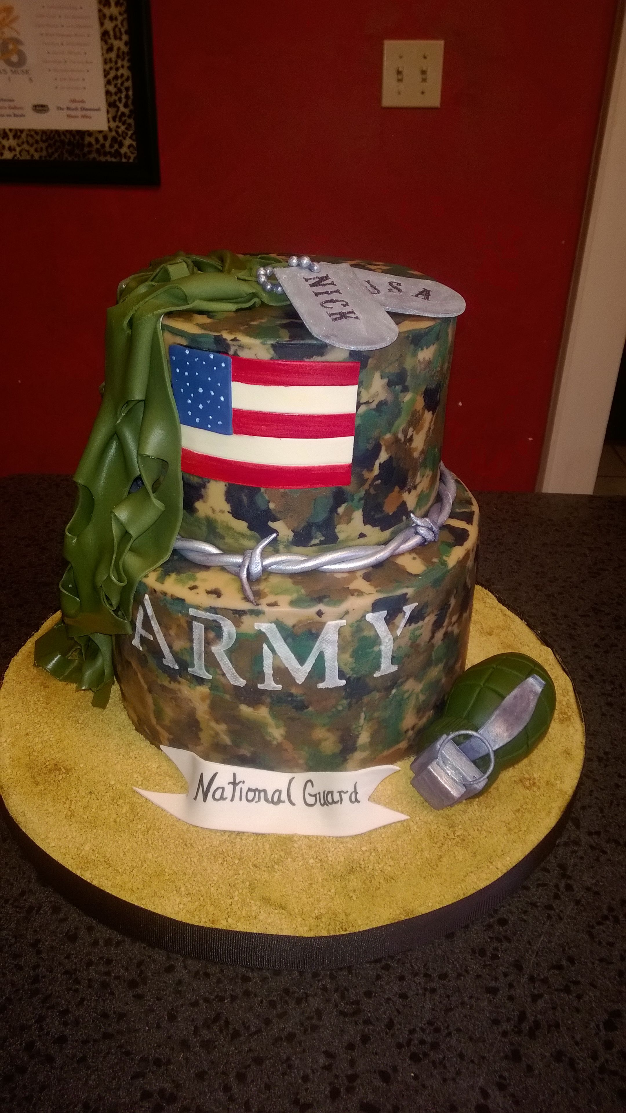 Our Amazing Cake For A Going Away Party For National Guard