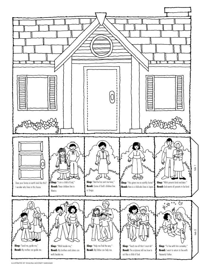 family slideshow - Family Coloring Pages 2