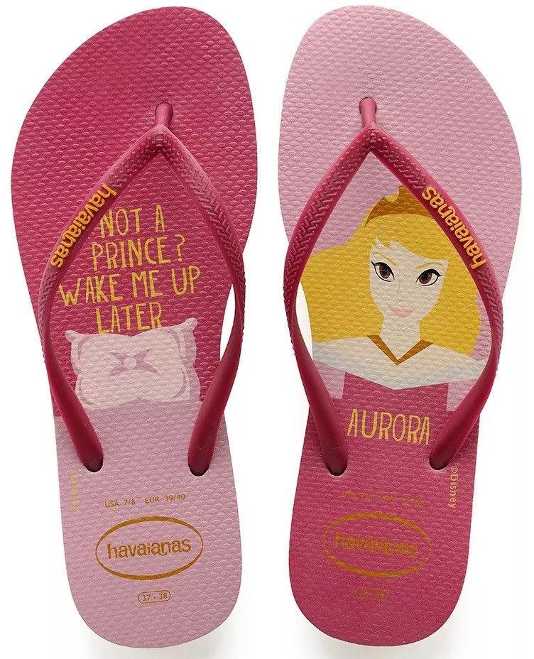 Havaianas Brazil Women Slim Princess Disney Vary Colors and All Sizes