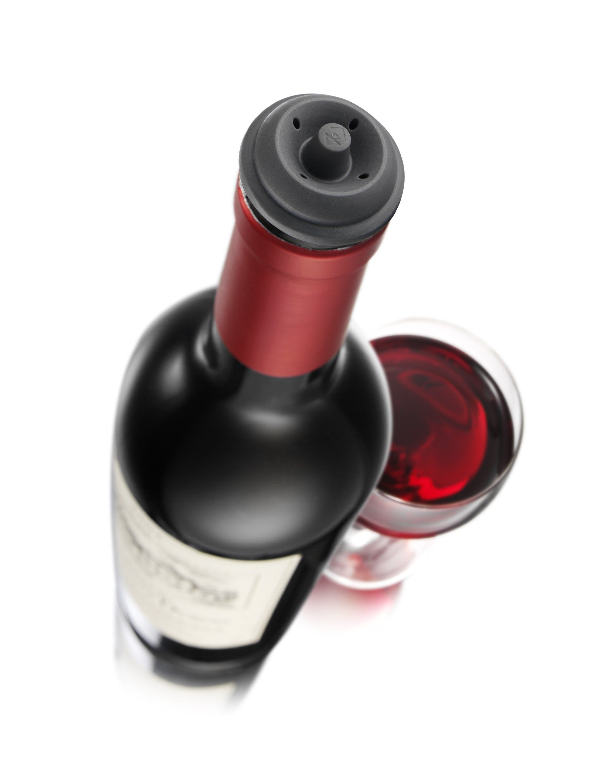 Amazon Com Vacu Vin Wine Saver Pump With 2 X Vacuum Bottle Stoppers Black Wine Bottle Stoppers Kitchen Wine Bottle Stoppers Wine Gift Set Wine Stoppers