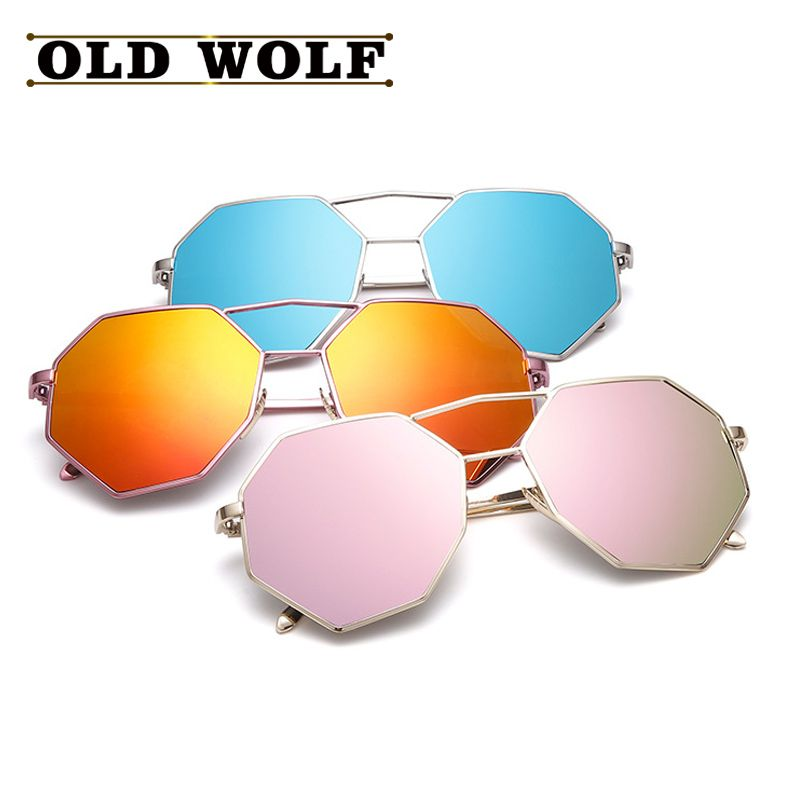 aliexpresscom buy fashion women men sunglasses vintage polygon shades candy color big frame - Buy Candy By Color