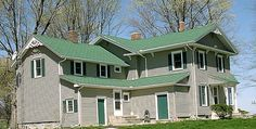 Grey House With Green Roof By Diane Uhley Via Dreamstime Roofs Pinterest Houses And Gray