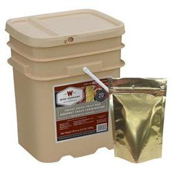 Wise Company 40-50120 Freeze Dried Fruit Supply Bucket - 120 Servings  is an ideal way of supplementing your emergency preparedness food supply.