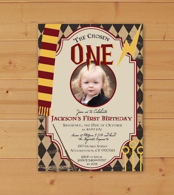 Harry Potter Birthday Invitation Harry Potter First Birthday Harry