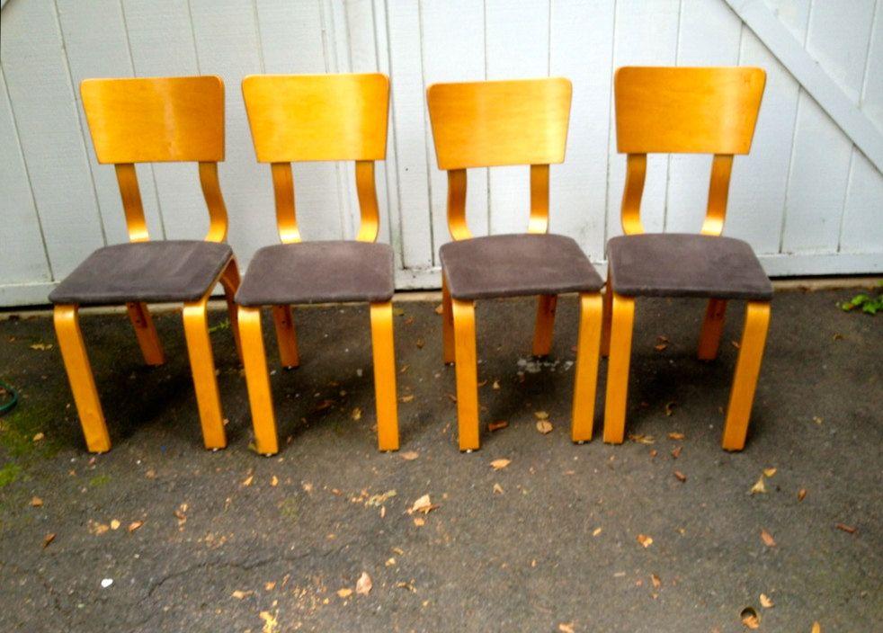 Set of 4 Thonet Chairs. $485.00, via Etsy.