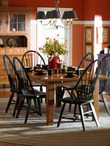 7 Pc Attic Heirlooms Rectangular Leg Table Dining Set Broyhill