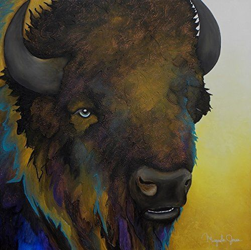 Gentle Giant - Contemporary Buffalo Painting