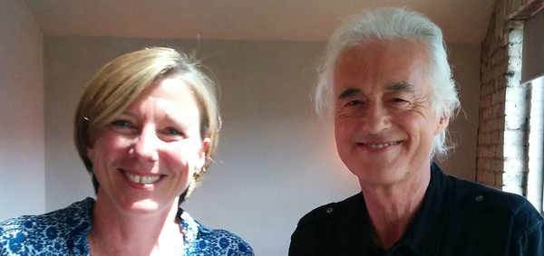 Jimmy Page With Bbc Radio 4 Presenter Sarah Montague June 16 2015 London Led Zeppelin News Led Zeppelin Jimmy Page