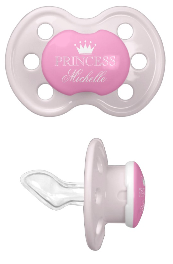 Personalized Name Princess Baby Pacifier
