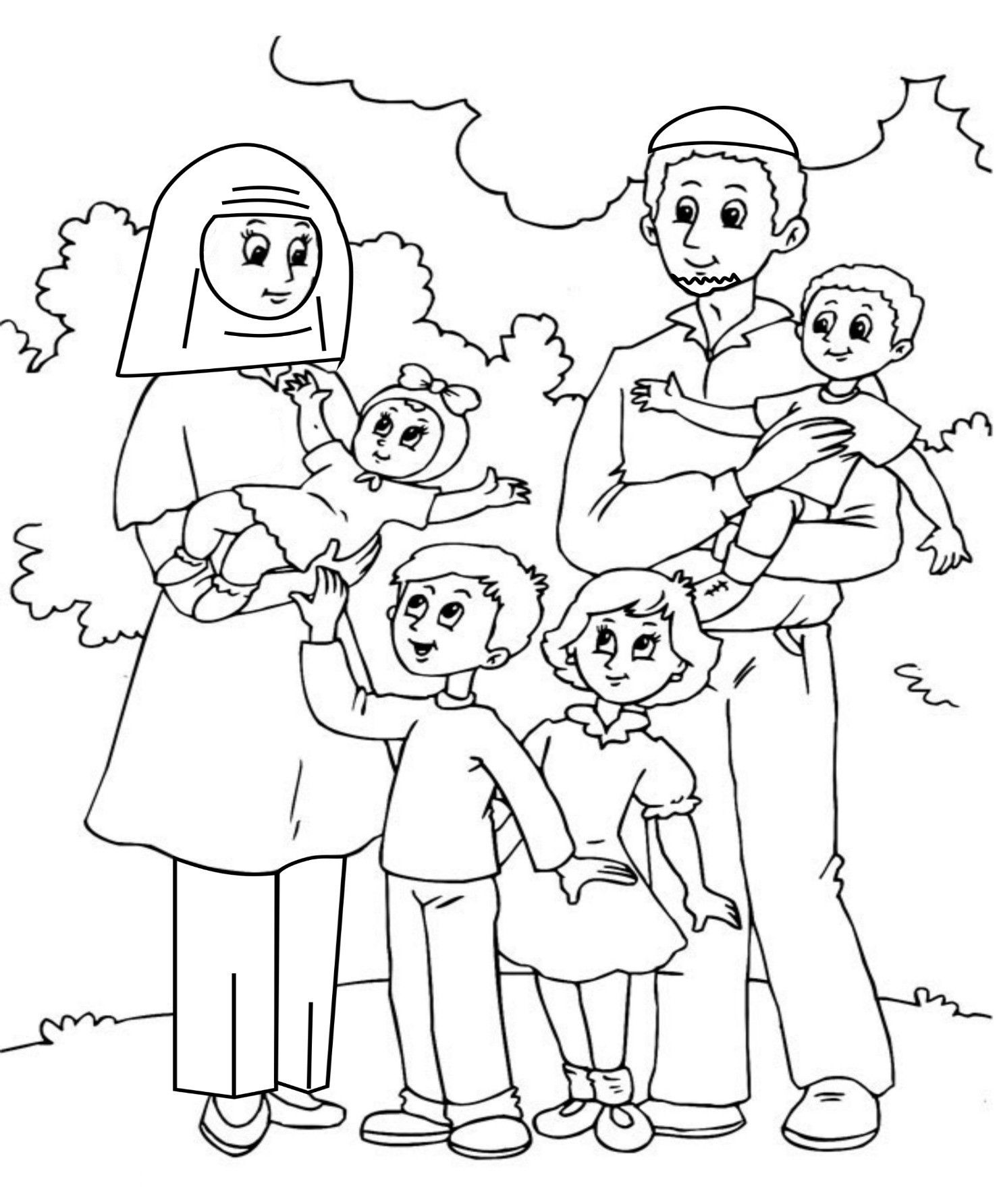 Image result for coloring pages family free   Pre k houses ...