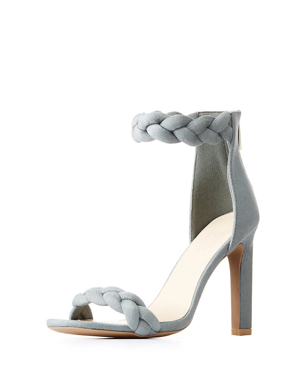 b54da6a708 Braided Ankle Strap Sandals | Charlotte Russe #sandals #summerstyle #shoes # heels #summervibes #summer #fashion #style #shopping #shopmycloset #shopnow  ...