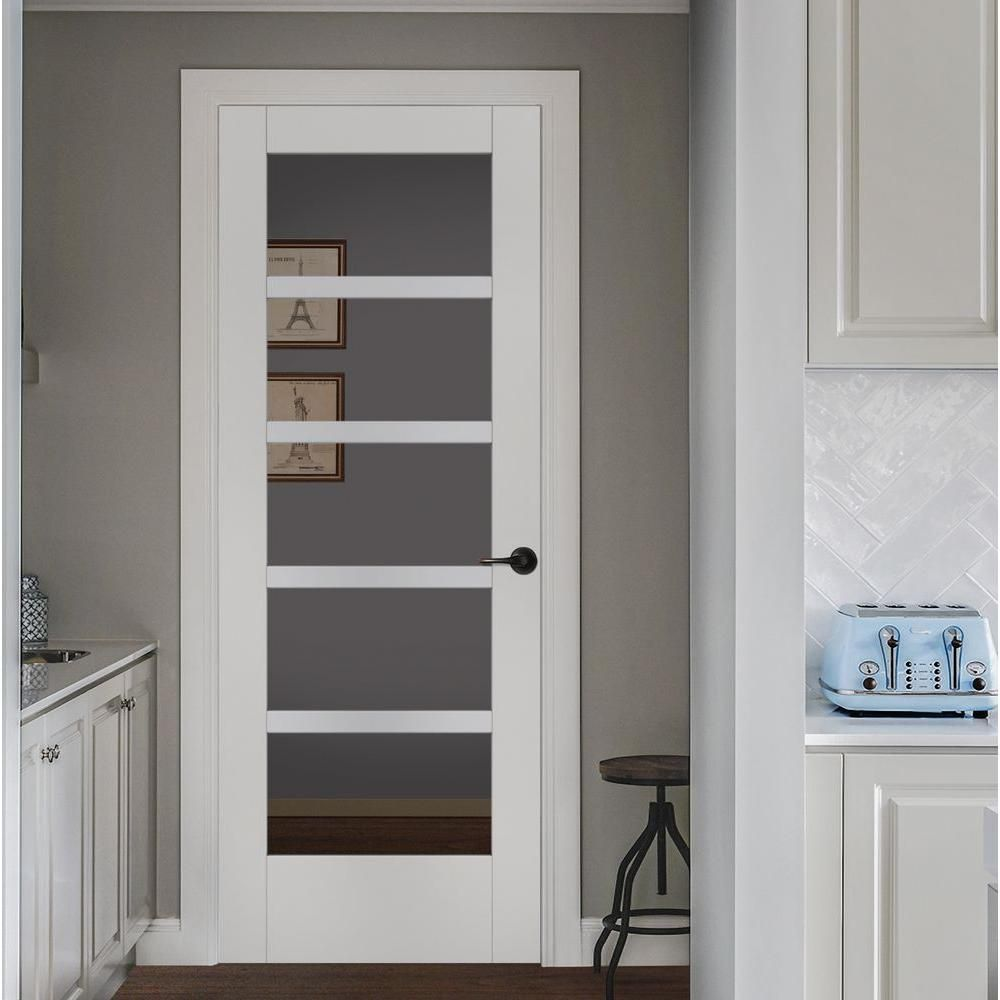 Jeld Wen 32 In X 80 In Moda Primed Pmc1055 Solid Core Wood Interior Door Slab W Clear Glass Thdjw221100073 The Home Depot In 2020 Wood Doors Interior Solid Wood Interior Door Doors Interior