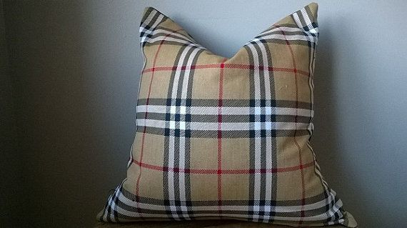 Burberry Like Tartan Check Plaid Pillow Cover By