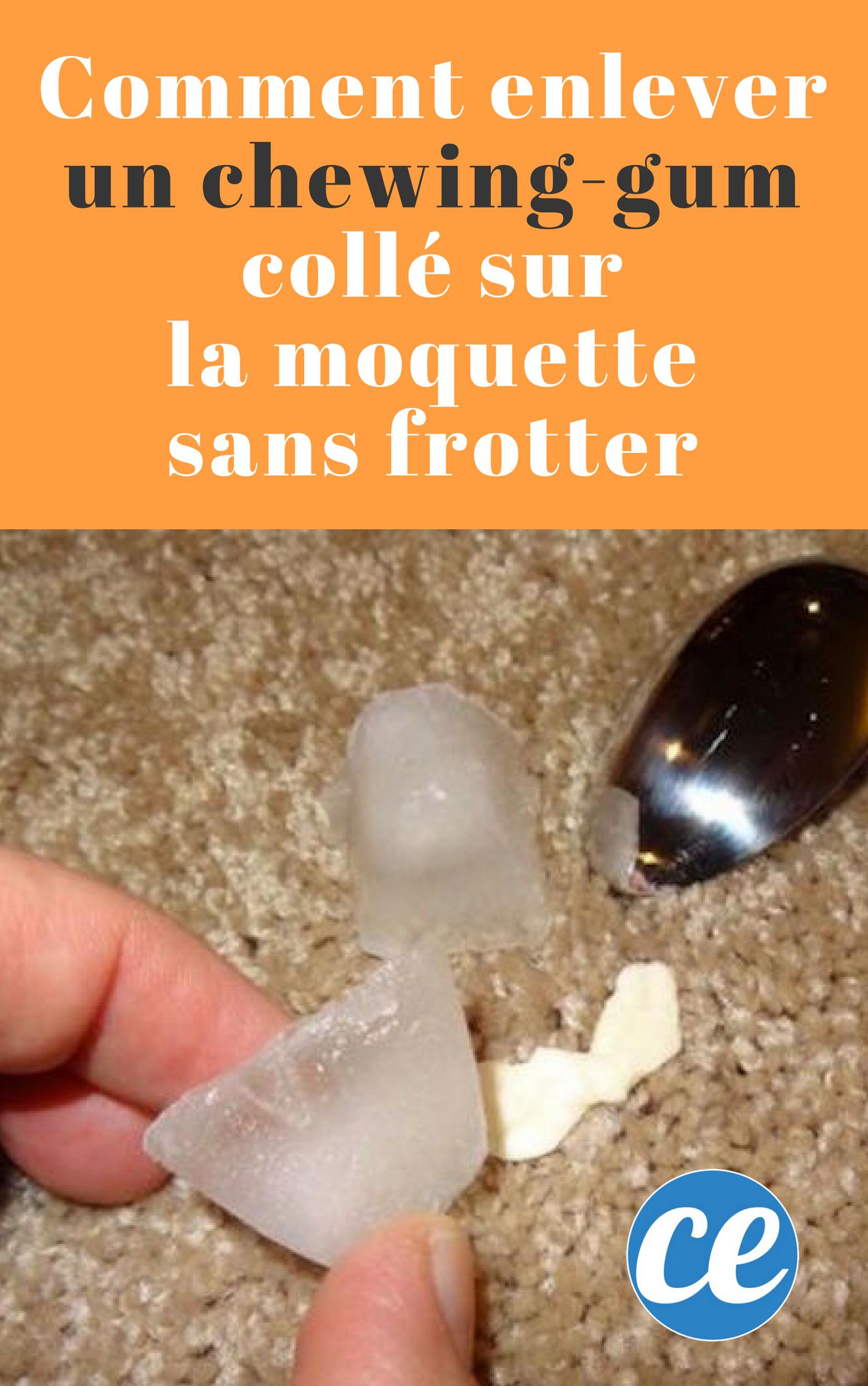 L Astuce Pour Enlever Un Chewing Gum Colle Sur La Moquette Sans Frotter Chewing Chewing Gum Enlever Chewing Gum