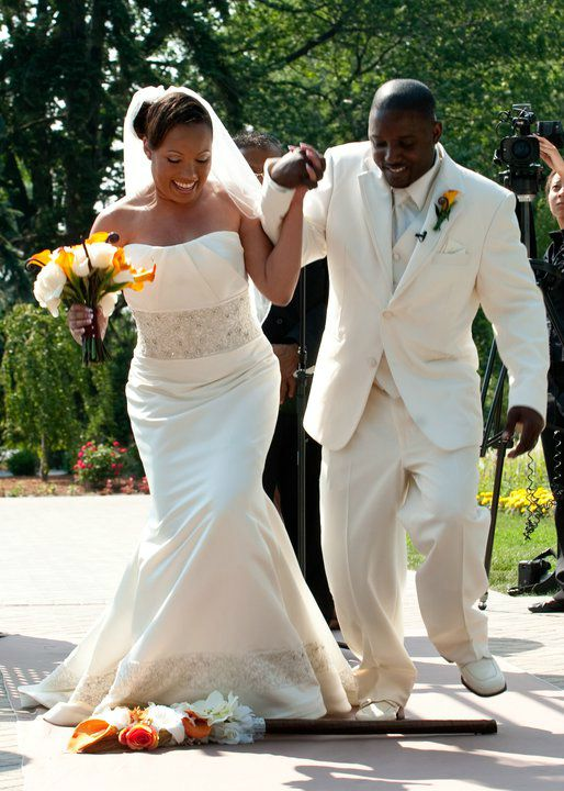 My Beautiful Clients Jumping Their Wedding Broom Designer Spotlight Jump The In Style With Marayah S Creations