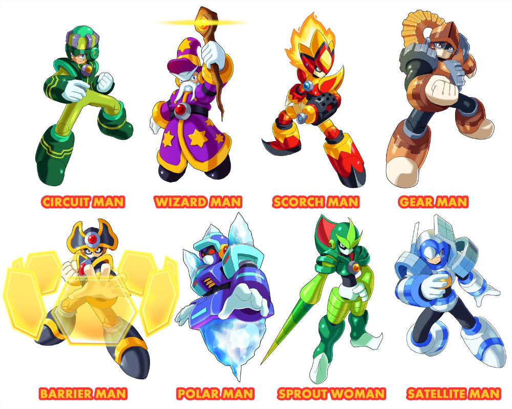Megaman 11 Robot Masters Fan Made By Megaman 11 Mega Man Art Game Character Design