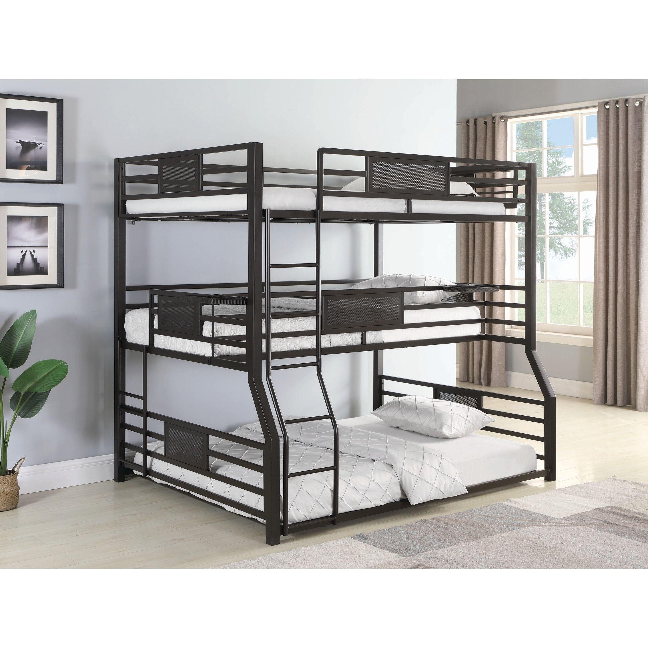 Taylor & Olive Chicot Dark Bronze Triple Bunk Bed, Kids