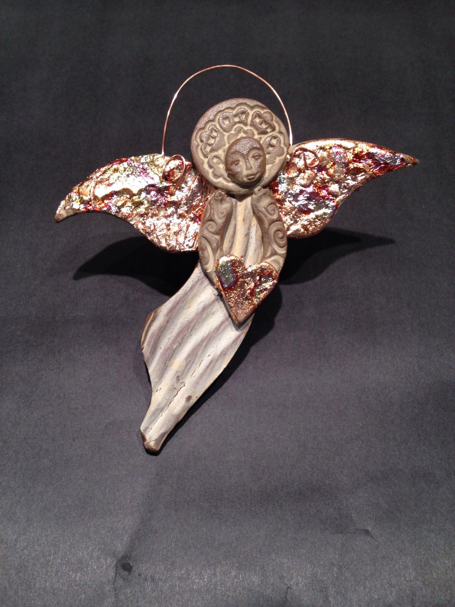 Pin By Laura Zolezzi Salinas On Ceramics Pottery Angels Clay Angel Angel Ornaments