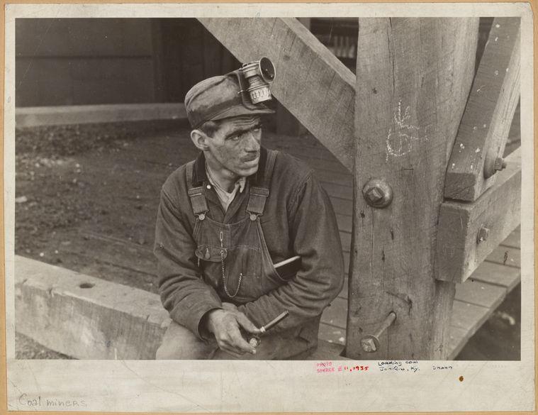 Kentucky coal miner jenkins kentucky 1935 ben shahn