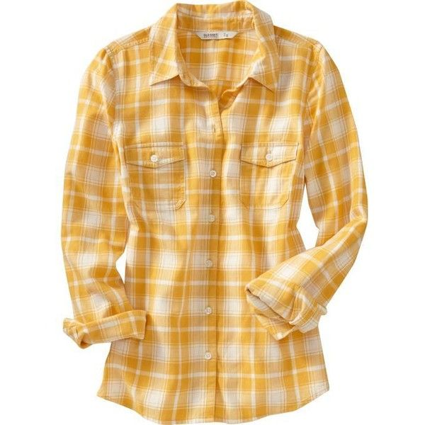 Old navy women 39 s plaid flannel shirts 20 liked on for Flannel plaid shirts for women