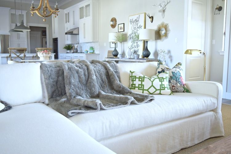 Living Room Restoration Hardware Couch Fax Fur Throw White Kitchen Living Room Transformation Living Room Inspiration Room