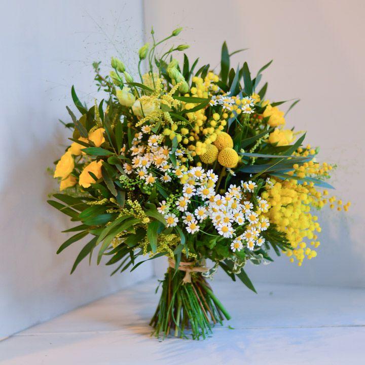 ramo flores silvestres tonos amarillos llorens y duran - Ramos De Flores Silvestres