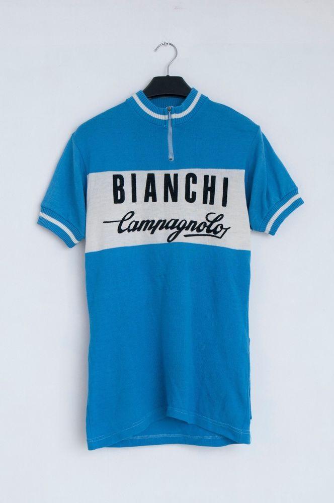 Bianchi Campagnolo Decca Vintage Wool Cycling Jersey Size 3 Bianchicampagnolo Jersey Cycling Jerseys Cycling Jersey