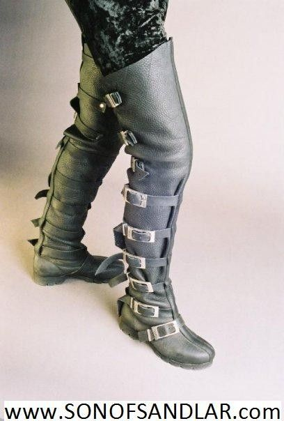 thigh high buckle boots steam punk schuhe