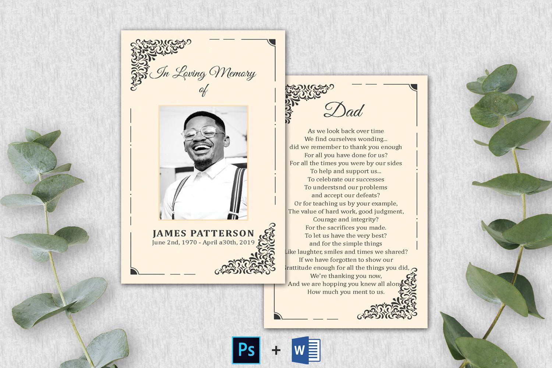 Editable Funeral Prayer Card Template Printable Memorial Etsy Funeral Cards Memorial Cards For Funeral Funeral Prayers