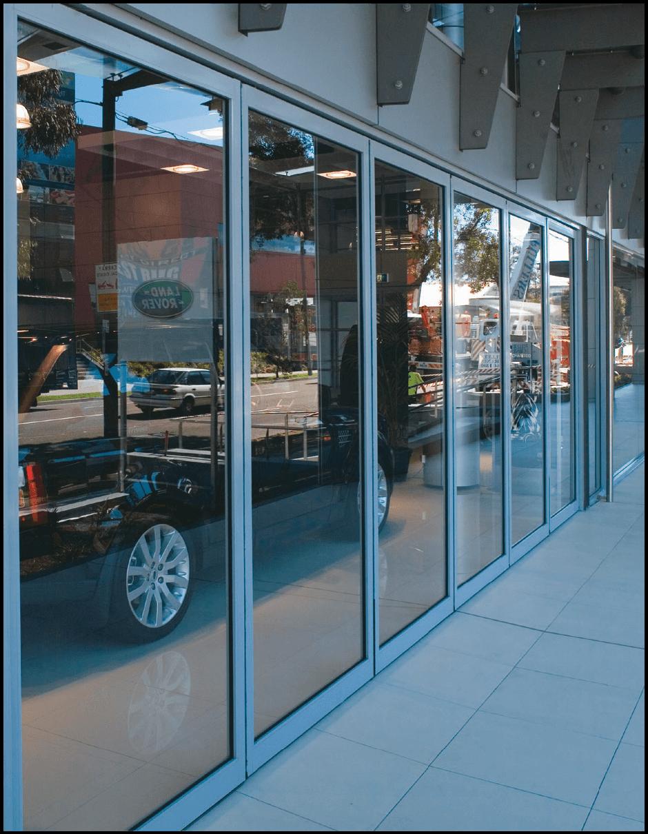Front Glass Front Door Shop Shop Window Design Aluminium Sliding Doors