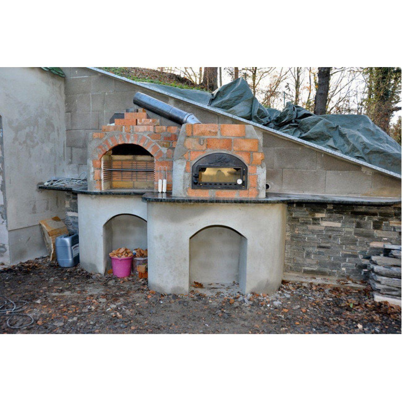 grill pizzaofen kombination selbst bauen | steinofen | pinterest, Garten und Bauen